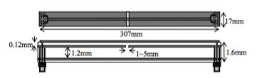図1 テスト基板の模式図